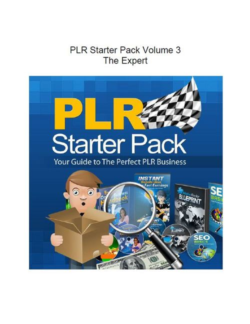 Product picture PLR Starter Pack Volume 3 - The Expert (Part of a set of 3)